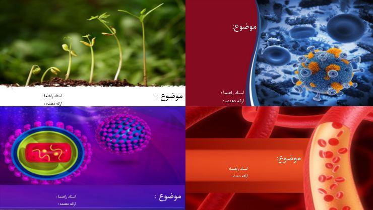 دانلود چهار قالب پاورپوینت آماده زیست شناسی