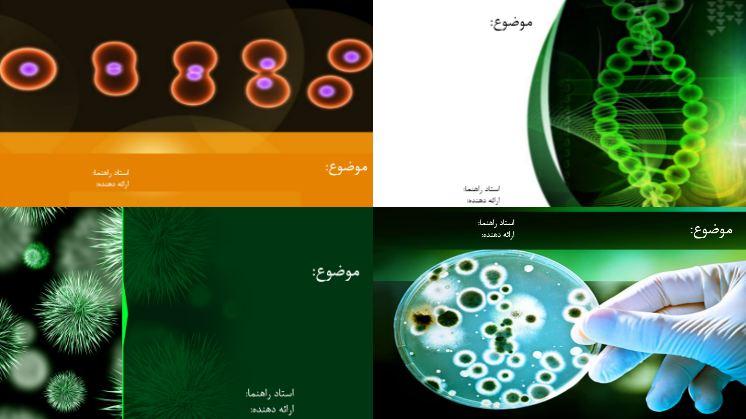 دانلود چهار قالب پاورپوینت آماده زیست