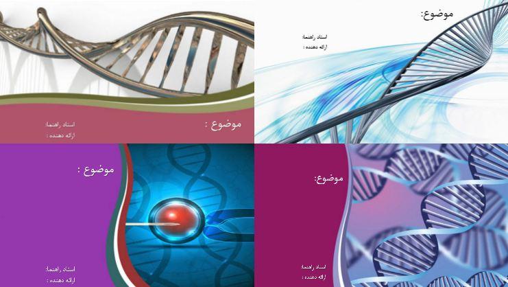دانلود چهار قالب پاورپوینت ژنتیک