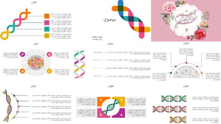 دانلود قالب پاورپوینت انیمیشن ژنتیک (با کیفیت عالی و شیک)
