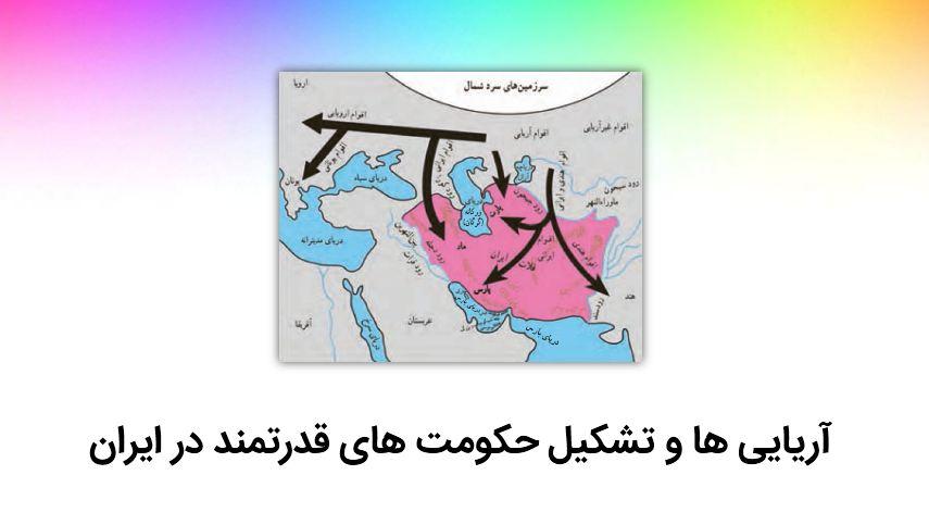 دانلود پاورپوینت آریایی ها و تشکیل حکومت های قدرتمند در ایران (درس ۱۹ – مطالعات پایه هفتم)