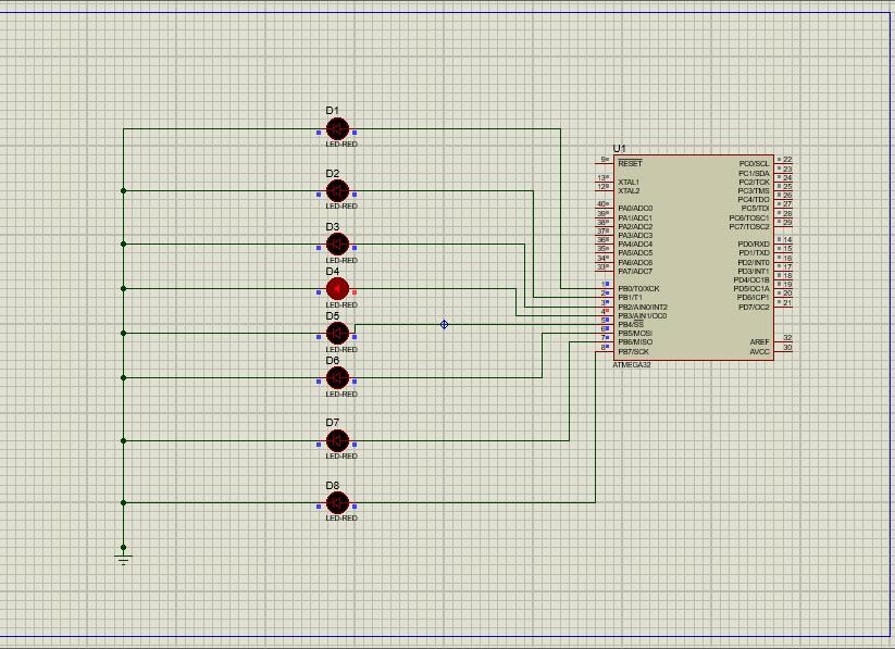 دانلود کدنویسی LEDهای چشمک زن در پروتئوس با زبان C در کدویژن