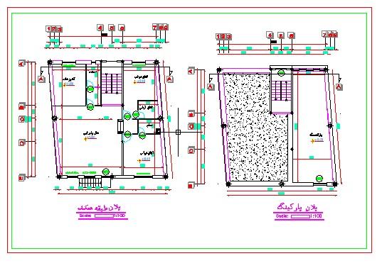 دانلود پلان معماری (یک طبقه با بهار خواب) به ابعاد ۱۲٫۰۴*۱۳