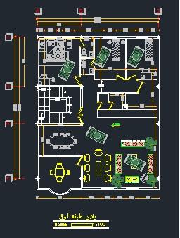 دانلود پلان معماری اسکلت فلزی (۴ طبقه) ابعاد ۱۲*۱۴